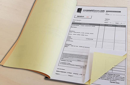 Carnet devis / facture